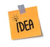 Idea on adhesive note Royalty Free Stock Photos
