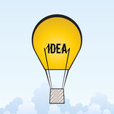 Idea Air Balloon Royalty Free Stock Images