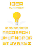 Idea alphabet with lamp Stock Photo