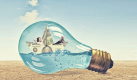 Idea for anticrisis solution Stock Image