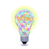 Idea as an lightbulb Stock Photography