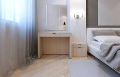 Idea of avant-garde bedroom Stock Images