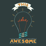 Idea Awesome Stock Image