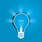 Idea background. Idea lights background, vector illustration Stock Photography