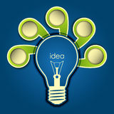 Idea background. With place for your text or objects, vector Royalty Free Stock Image