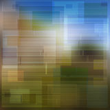 Idea background of multicolored squares and rectangles shadows. Plot / Texture of squares and rectangles with multicolored background. Colors between blue, brown Stock Photo