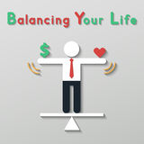 Idea balance your life business concept Stock Photos
