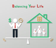 Idea balance your life business concept Stock Photo