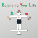 Idea balance your life business concept Royalty Free Stock Photography