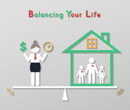 Idea balance your life business concept Royalty Free Stock Photos