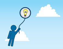 Idea Balloon Royalty Free Stock Images