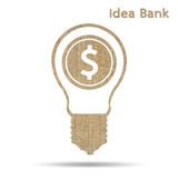 Idea bank Royalty Free Stock Photos