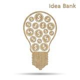Idea bank Royalty Free Stock Photos