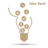 Idea bank Royalty Free Stock Photography