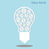 Idea bank Royalty Free Stock Images
