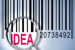 Idea on barcode Royalty Free Stock Images