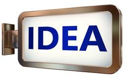 Idea on billboard background. Idea wall light box billboard background , isolated on white Royalty Free Stock Image
