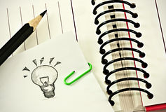 Idea book Stock Photo