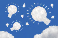 Idea box. Cloud on blue background,idea box Stock Image