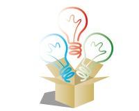 Idea box Royalty Free Stock Photos