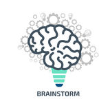Idea brainstorm. Vector illustration concept stock Royalty Free Stock Images