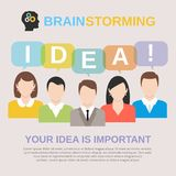 Idea brainstorming concept Royalty Free Stock Images