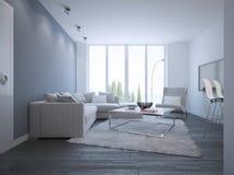 Idea of bright minimalist lounge Royalty Free Stock Photo
