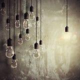 Idea brillante fra molti la rappresentazione di idee 3d Fotografie Stock