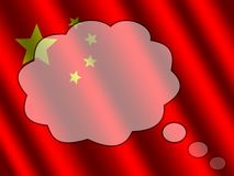 Idea bubble over Chinese flag Stock Images