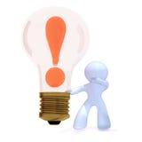 Idea and bulb Stock Photo