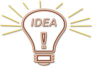 Idea Bulb. For Bright Sparks Royalty Free Illustration