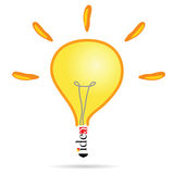 Idea bulb art vector illustration Stock Images