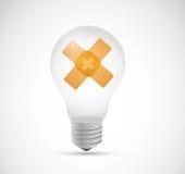 Idea bulb band aid fix solution concept Stock Images