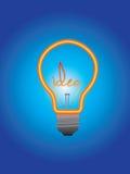 IDEA BULB BLUE BLANK Stock Images