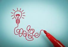 Idea bulb Stock Images
