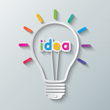 Idea bulb Stock Photos