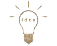 Idea in bulb Royalty Free Stock Images