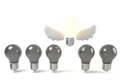Idea bulb fly Royalty Free Stock Photography