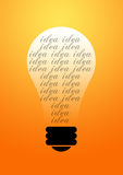 Idea Bulb glowing background vector illustration