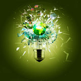 Idea and bulb Royalty Free Stock Image