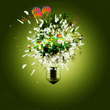 Idea and bulb Royalty Free Stock Images