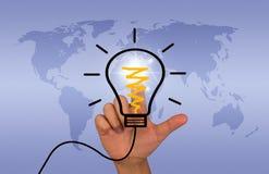 Idea bulb Stock Photos
