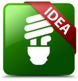 Idea bulb icon green square button Stock Photos