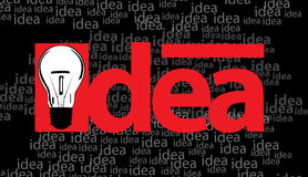 Idea and bulb illustration Royalty Free Stock Photo