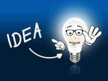 Idea Bulb Lamp Energy Light blue Stock Images