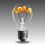 Idea Bulb Stock Photo