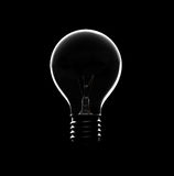 Idea Bulb Silhouette Stock Photos
