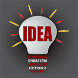 Idea bulb with teamwork, marketing, strategy, effort, and goal Stock Image