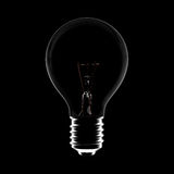 Idea Bulb Turn off. Concept closeup highly detail. Image include CLIPPING PATH for remove background Royalty Free Stock Photography