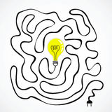 Idea bulb with wire labyrinth Royalty Free Stock Images